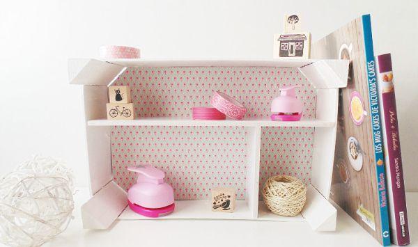 Reutilizar caixa de frutas vai fazer você ganhar um organizador lindo (Foto: handbox.es)