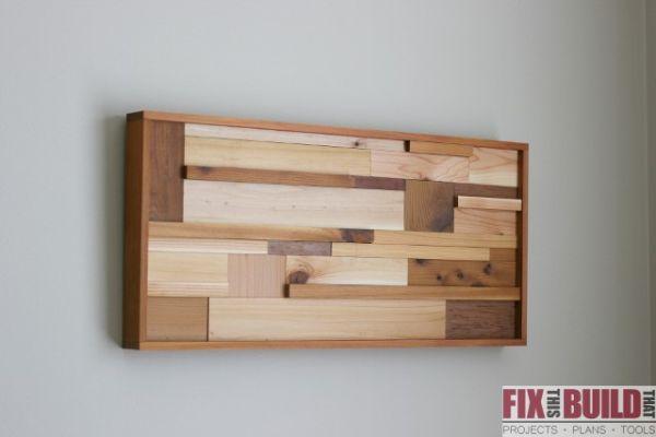 Quadro feito com restos de madeira é lindo e sustentável (Foto: fixthisbuildthat.com)