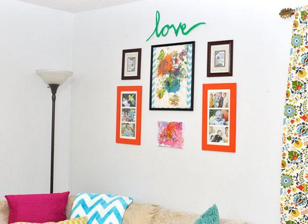 Letras decorativas com papelão reciclado decoram de forma despojada (Foto: diycandy.com)