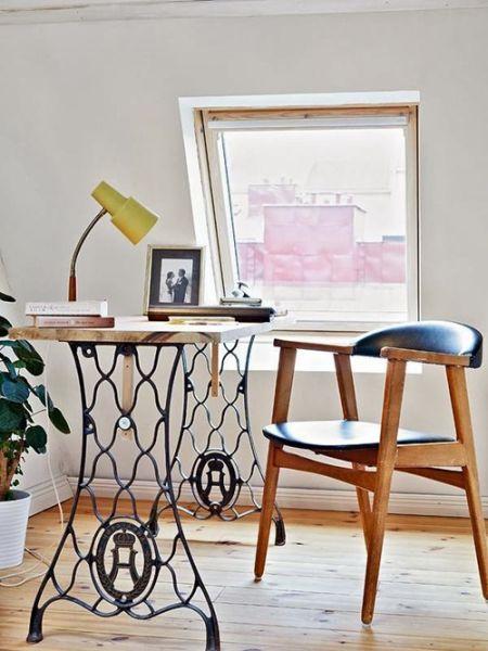 Reaproveitar pé de máquina de costura antiga pode ser mais interessante do que você imagina (Foto: abartdiy.com)