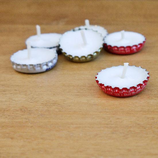 Estas velas com material reciclado podem decorar qualquer lugar, pois são bem interessantes (Foto: popsugar.com)