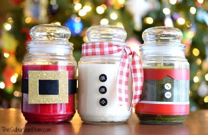 Adesivo Para Tratamento De Herpes Labial ~ Reciclagem no Meio Ambiente Ideias de Artesanatos de Natal com Potes de Vidro Reciclado