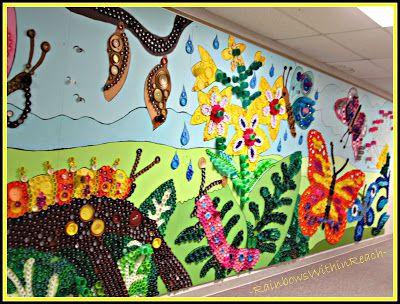 Reciclagem no meio ambiente o seu portal de artesanato for Mural sobre o natal