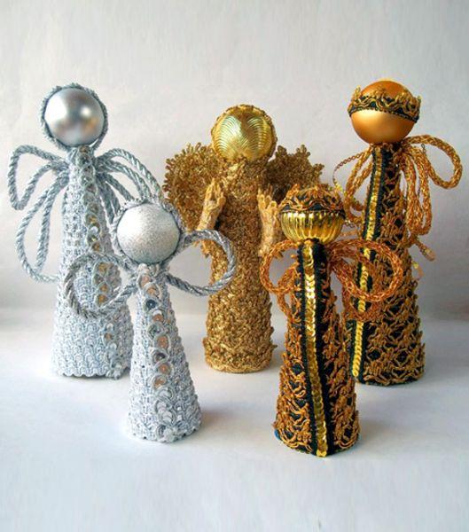 Anjos de Natal com material reciclável são lindos e não tão difíceis de serem conseguidos (Foto: hak.com.br)