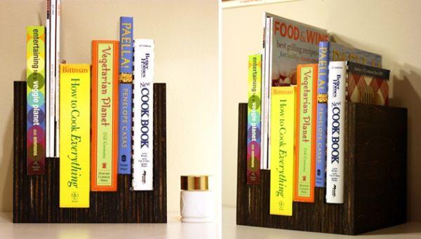Invista nesta simpática ideia de porta-livros de madeira reaproveitada (Foto: lojaskd.com.br)