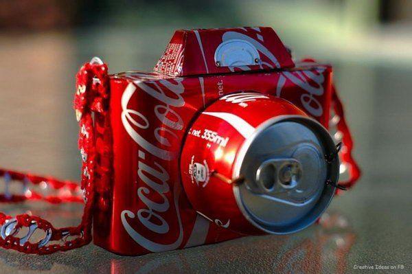 Invista em pelo menos uma das muitas ideias de reciclagem com latas de refrigerante (Foto: hative.com)