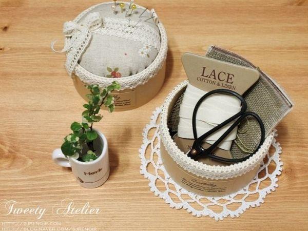 Esta reciclagem com rolo de fita adesiva é linda e refinada (Foto: atelierdejojo.com)