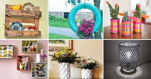 Reciclagem no meio ambiente 20 ideias de artesanatos com - Decorar reciclando facil ...
