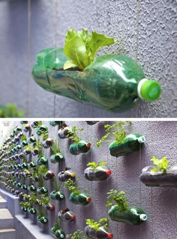 Reciclagem no Meio Ambiente Decoraç u00e3o de jardim com materiais reciclados -> Decoração De Jardim Com Material Reciclavel