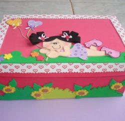 ideias-de-como-decorar-caixa-de-sapato-com-eva