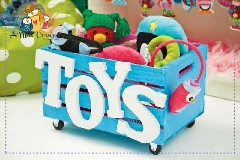 caixa de brinquedo reciclada