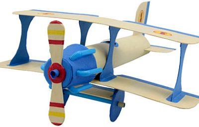 Avião de tubo de papel toalha passo a passo