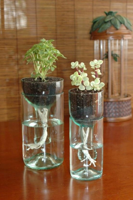 artesanatos com garrafas de vidro recicladas