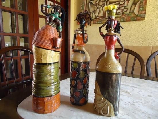 artesanatos com garrafas recicladas