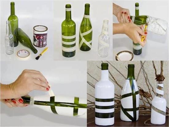 ideias de artesanatos com garrafas de vidro