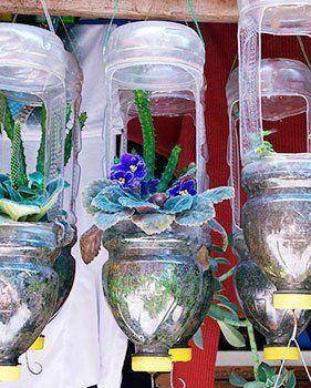 como fazer reciclagem de garrafa pet no jardim