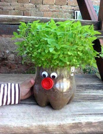 reciclagem para jardim com garrafas pet