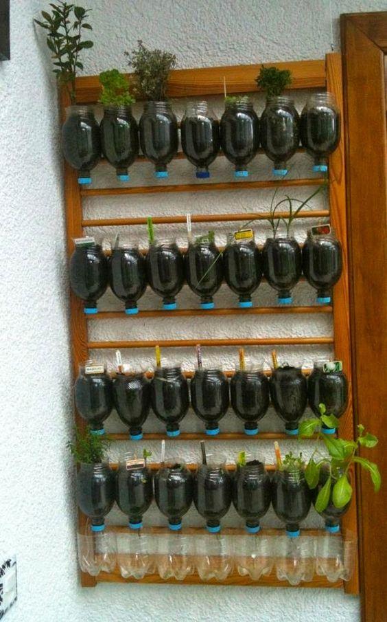 ideias de Reciclagem de garrafa pet para plantar