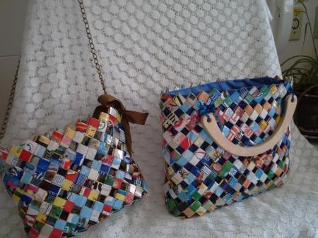 ideias de bolsas com material reaproveitado