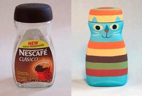 ideia de reciclagem criativa
