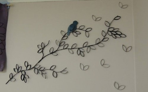 decoração de parede com reciclagem