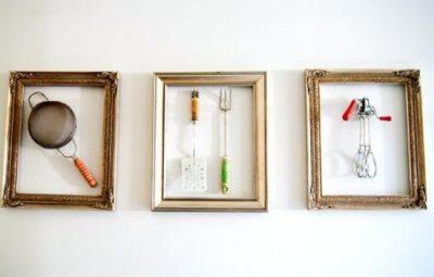 quadros reciclados na cozinha
