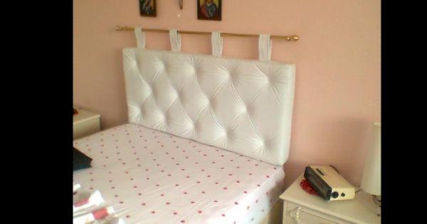 cabeceira de cama com varão