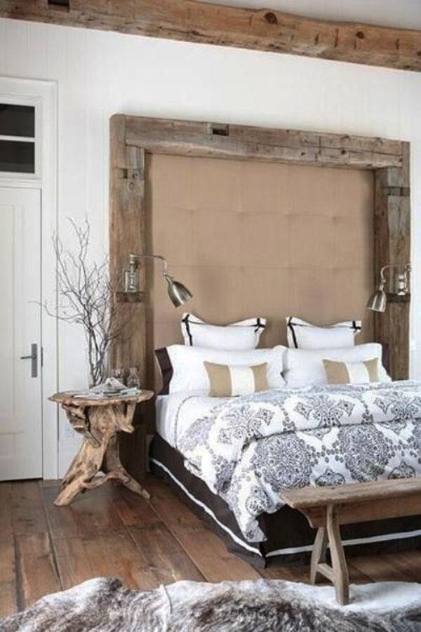 cabeceira de cama rústica