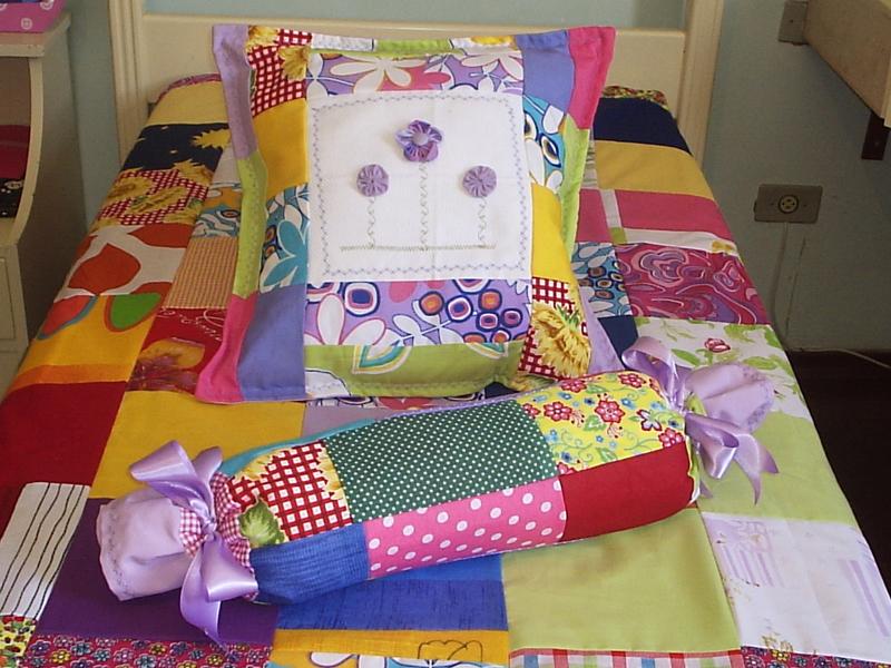 jogo de cama de retalhos