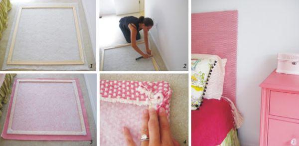 cabeceira de cama de tecido