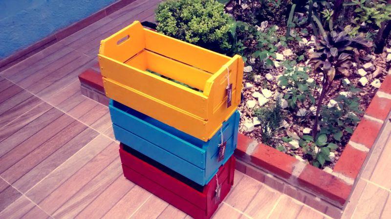 caixote de madeira diversos