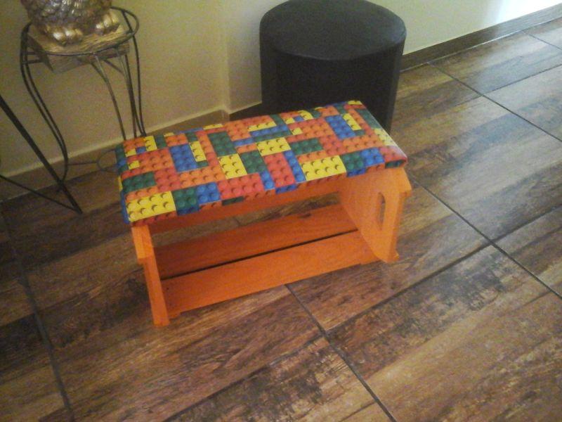 banco de caixote de madeira