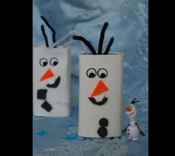 Olaf Frozen de caixa de leite