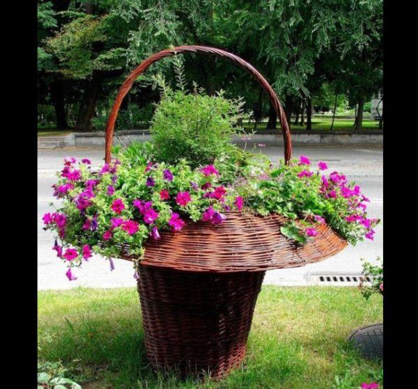 reciclagem com cesta