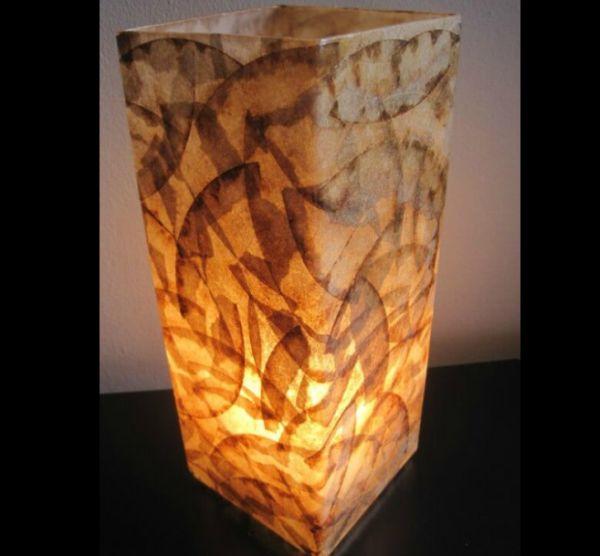 Artesanato com coador de café luminaria