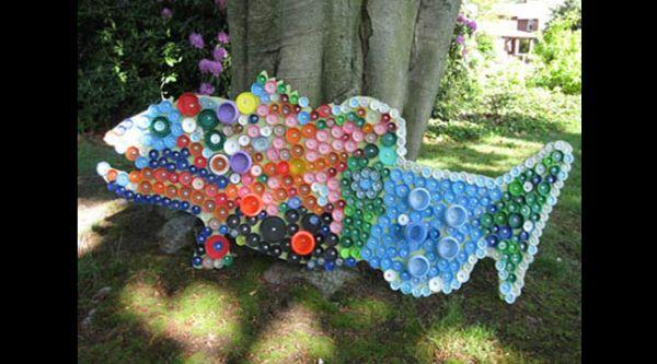 reciclagem com tampas