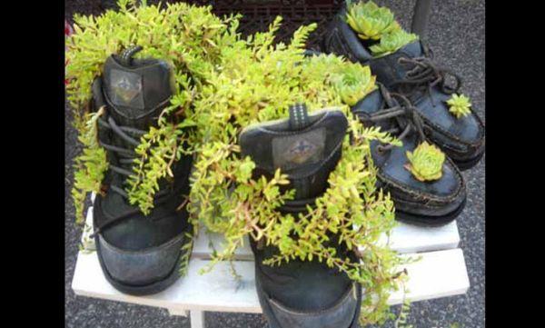 reciclagem com sapato