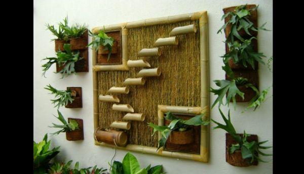 reciclagem com bambu