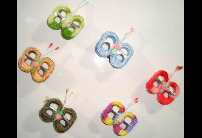 reciclagem com lacre borboletas