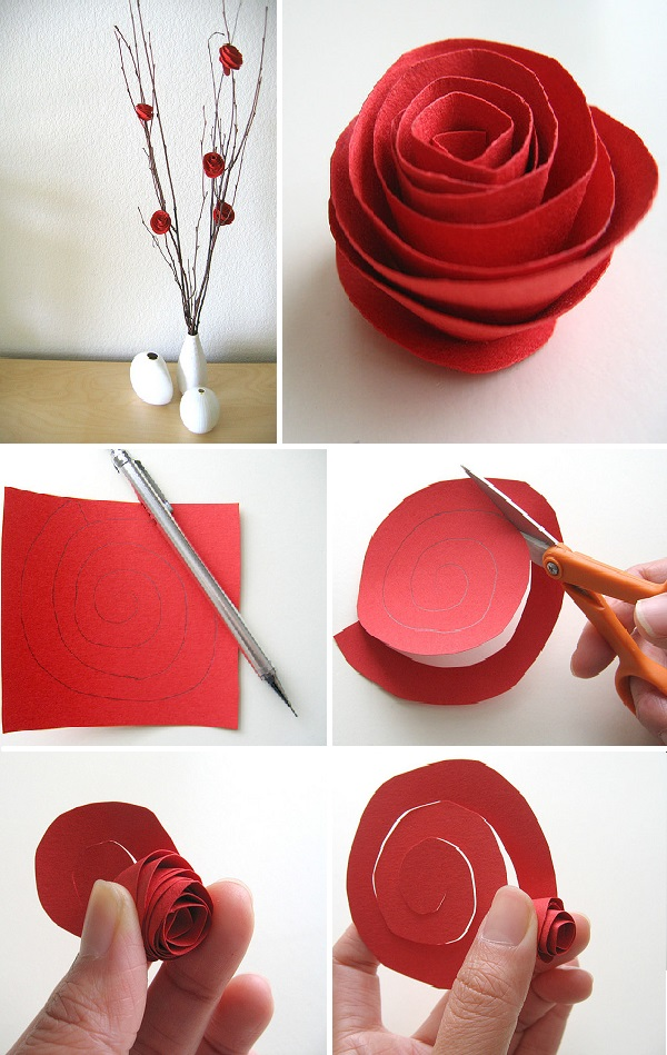 Reciclagem no meio ambiente aprenda como fazer uma rosa de for Do it for her template