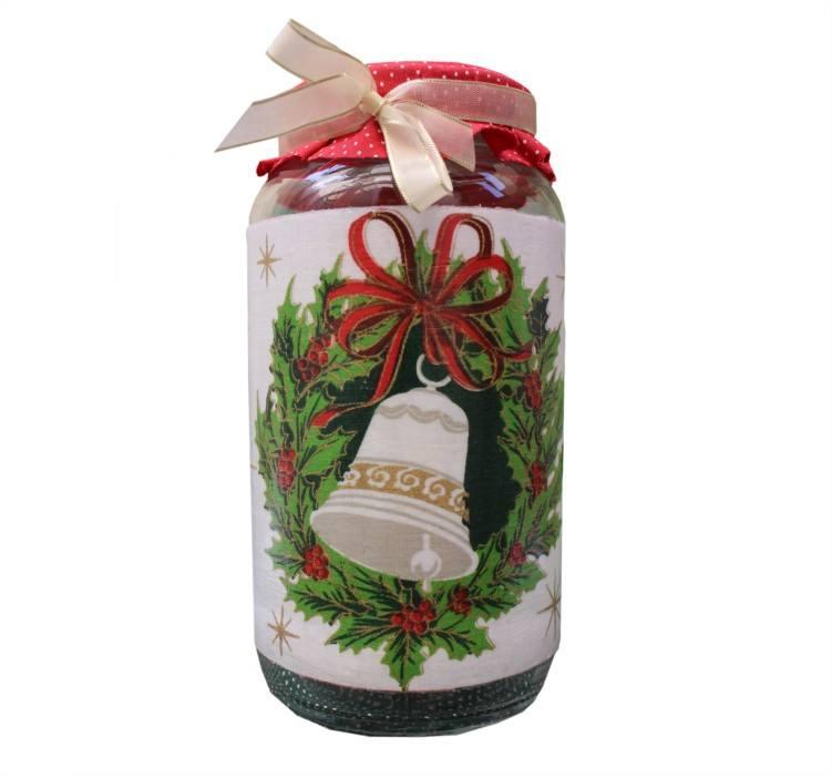 pote de vidro decorado para natal