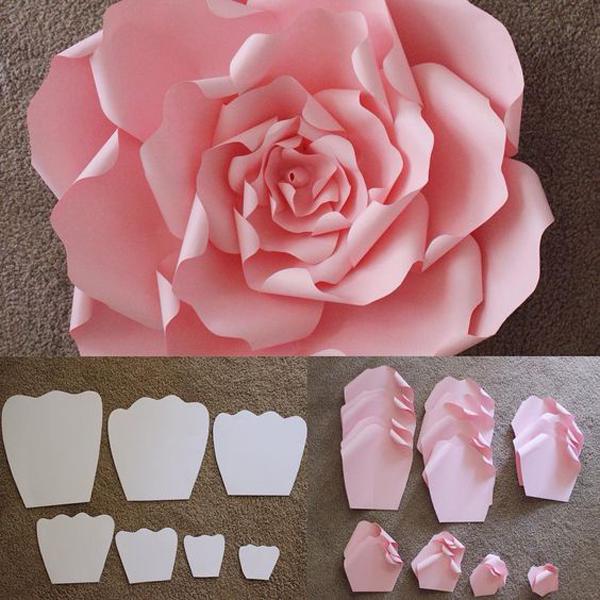 rosa em papel rosa