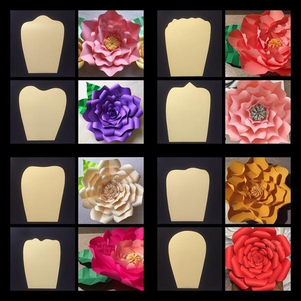 rosa em papel petalas