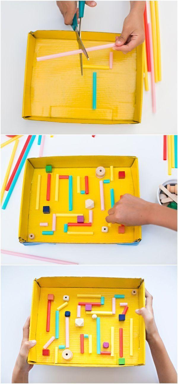 brinquedo com sucata labirinto