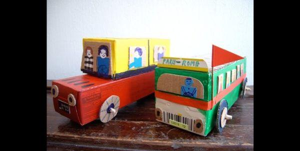 brinquedo com sucata caminhão
