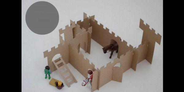brinquedo com sucata castelo