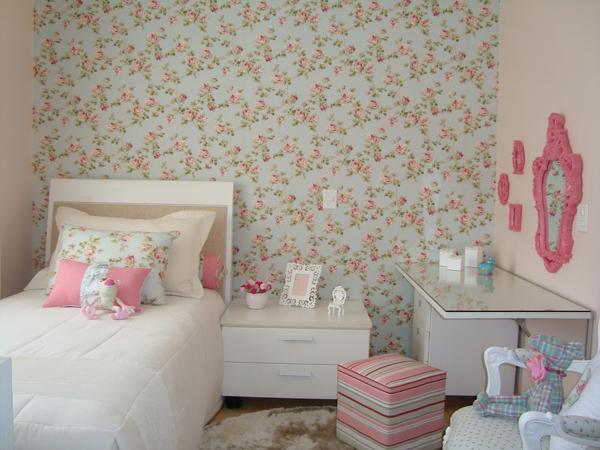 papel de parede florido