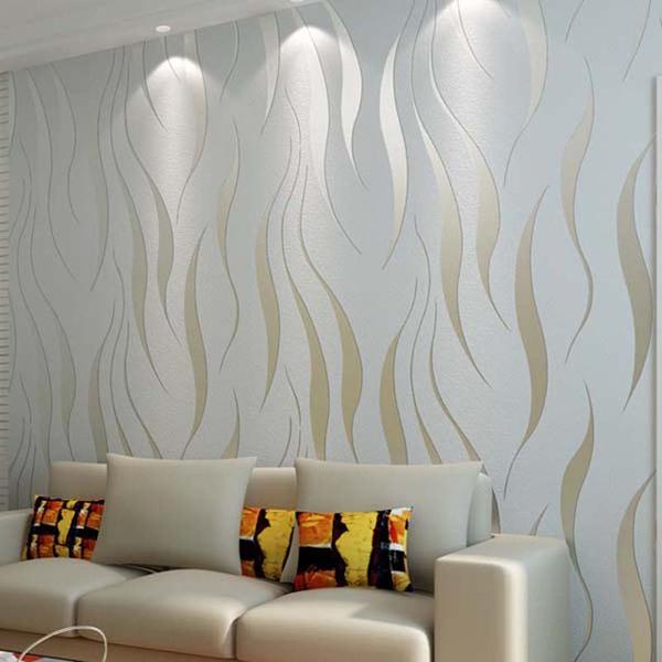 papel de parede metalizado