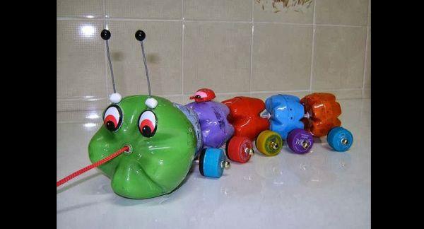 brinquedo com sucata centopeia