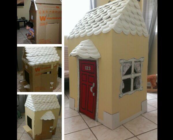 casa de papelao sofisticada
